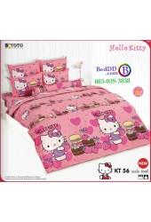 ชุดเครื่องนอนเฮลโล คิตตี้ Hello Kitty TOTO ผ้าปูที่นอน ผ้านวม ลิขสิทธิ์แท้โตโต้ KT56
