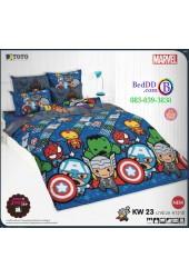 ชุดเครื่องนอนมาร์เวล คาวาอี้ Marvel TOTO ผ้าปูที่นอน ผ้านวม ลิขสิทธิ์แท้โตโต้ KW23