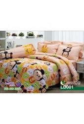 ชุดเครื่องนอนลายซูมซูม Tsum Tsum สีโอลด์โรส Jessica ผ้าปูที่นอน ผ้านวมเจสสิก้า LD001