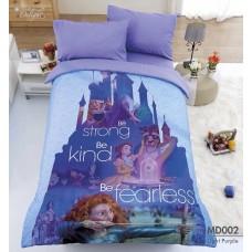 ชุดเครื่องนอนสีพื้น สีชมพู Tulip Delight ผ้าปูที่นอน ผ้านวมทิวลิป ดีไลท์ Digital Print Disney Princess MD002