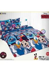 ชุดเครื่องนอนมิกกี้เมาส์ Mickey Mouse TOTO ผ้าปูที่นอน ผ้านวม ลิขสิทธิ์แท้โตโต้ MK19