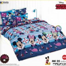 ชุดเครื่องนอนมิกกี้เมาส์ Mickey Mouse TOTO ผ้าปูที่นอน ผ้านวม ลิขสิทธิ์แท้โตโต้ MK20