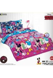 ชุดเครื่องนอนมิกกี้เมาส์ Mickey Mouse TOTO ผ้าปูที่นอน ผ้านวม ลิขสิทธิ์แท้โตโต้ MK21