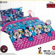 ชุดเครื่องนอนมิกกี้เมาส์ Mickey Mouse TOTO ผ้าปูที่นอน ผ้านวม ลิขสิทธิ์แท้โตโต้ MK22