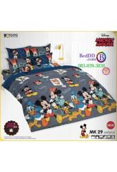 ชุดเครื่องนอนมิกกี้เมาส์ Mickey Mouse TOTO ผ้าปูที่นอน ผ้านวม ลิขสิทธิ์แท้โตโต้ MK29