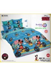 ชุดเครื่องนอนมิกกี้เมาส์ Mickey Mouse TOTO ผ้าปูที่นอน ผ้านวม ลิขสิทธิ์แท้โตโต้ MK33