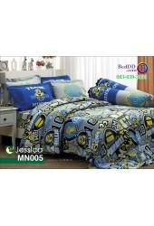 ชุดเครื่องนอนลายมินเนี่ยน Minions พื้นเทา Jessica ผ้าปูที่นอน ผ้านวมเจสสิก้า MN005