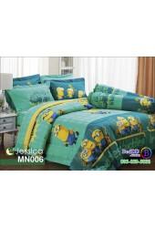 ชุดเครื่องนอนลายมินเนี่ยน Minions พื้นเเขียว Jessica ผ้าปูที่นอน ผ้านวมเจสสิก้า MN006