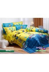 ชุดเครื่องนอนลายมินเนี่ยน Minions พื้นเหลือง Jessica ผ้าปูที่นอน ผ้านวมเจสสิก้า MN011