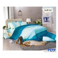 ชุดเครื่องนอนพิมพ์ลาย โทนเขียว Premier Satin ผ้าปูที่นอน ผ้านวมพรีเมียร์ ซาติน P173