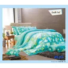ชุดเครื่องนอนพิมพ์ลายดอก โทนเขียวเหลือง Premier Satin ผ้าปูที่นอน ผ้านวมพรีเมียร์ ซาติน P177