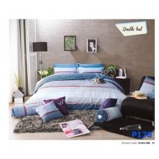 ชุดเครื่องนอนพิมพ์ลาย โทนขาวเทา Premier Satin ผ้าปูที่นอน ผ้านวมพรีเมียร์ ซาติน P178
