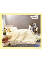 ชุดเครื่องนอนพิมพ์ลาย โทนเหลือง Premier Satin ผ้าปูที่นอน ผ้านวมพรีเมียร์ ซาติน P181