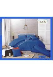 ชุดเครื่องนอนพิมพ์ลาย โทนน้ำเงิน Premier Satin ผ้าปูที่นอน ผ้านวมพรีเมียร์ ซาติน P183