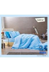 ชุดเครื่องนอนพิมพ์ลาย โทนฟ้า Premier Satin ผ้าปูที่นอน ผ้านวมพรีเมียร์ ซาติน P185