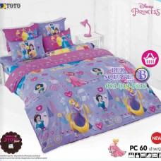 ชุดเครื่องนอนเจ้าหญิงดิสนีย์ Disney Princess TOTO ผ้าปูที่นอน ผ้านวม ลิขสิทธิ์แท้โตโต้ PC60