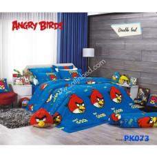 ชุดเครื่องนอนลาย Angry bird PK073 Premier Satin ผ้าปูที่นอน ผ้านวมพรีเมียร์ ซาติน