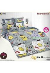 ชุดเครื่องนอนปอมปอมปูริน Pom Pom Purin TOTO ผ้าปูที่นอน ผ้านวม ลิขสิทธิ์แท้โตโต้ PM21