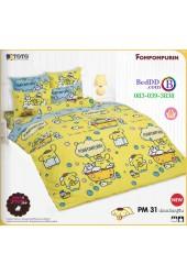 ชุดเครื่องนอนปอมปอมปูริน Pom Pom Purin TOTO ผ้าปูที่นอน ผ้านวม ลิขสิทธิ์แท้โตโต้ PM31