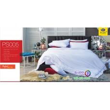 ชุดเครื่องนอน Satin Plus ผ้าปูที่นอน ผ้านวมซาตินพลัส PS005 สีขาว