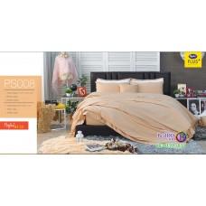ชุดเครื่องนอน Satin Plus ผ้าปูที่นอน ผ้านวมซาตินพลัส PS008 สีโอรส