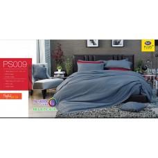 ชุดเครื่องนอน Satin Plus ผ้าปูที่นอน ผ้านวมซาตินพลัส PS009 สีเทา