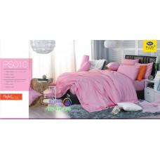 ชุดเครื่องนอน Satin Plus ผ้าปูที่นอน ผ้านวมซาตินพลัส PS010 สีชมพู