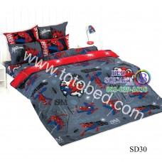 ชุดเครื่องนอนสไปเดอร์แมน Spider Man TOTO ผ้าปูที่นอน ผ้านวม ลิขสิทธิ์แท้โตโต้ SD30