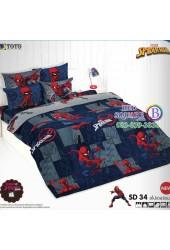ชุดเครื่องนอนสไปเดอร์แมน Spider Man TOTO ผ้าปูที่นอน ผ้านวม ลิขสิทธิ์แท้โตโต้ SD34