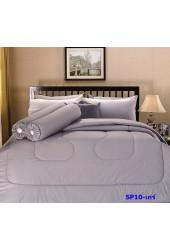ชุดเครื่องนอนสีพื้น สีเกร์ Premier Satin ผ้าปูที่นอน ผ้านวมพรีเมียร์ ซาติน SP10