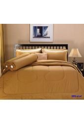 ชุดเครื่องนอนสีพื้น สีลาเต้ Premier Satin ผ้าปูที่นอน ผ้านวมพรีเมียร์ ซาติน SP6