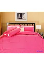 ชุดเครื่องนอนสีพื้น สีมาเจนต้า Premier Satin ผ้าปูที่นอน ผ้านวมพรีเมียร์ ซาติน SP7