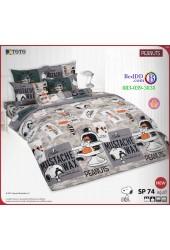 ชุดเครื่องนอนสนูปี้ หรือสนู๊ปปี้ Snoopy TOTO ผ้าปูที่นอน ผ้านวม ลิขสิทธิ์แท้โตโต้ SP74