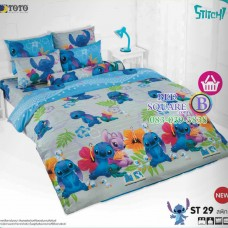ชุดเครื่องนอนลีโล่ แอนด์ สติทช์ Lilo & Stitch TOTO ผ้าปูที่นอน ผ้านวม ลิขสิทธิ์แท้โตโต้ ST29