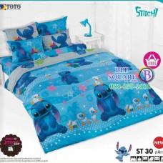 ชุดเครื่องนอนลีโล่ แอนด์ สติทช์ Lilo & Stitch TOTO ผ้าปูที่นอน ผ้านวม ลิขสิทธิ์แท้โตโต้ ST30