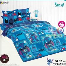 ชุดเครื่องนอนลีโล่ แอนด์ สติทช์ Lilo & Stitch TOTO ผ้าปูที่นอน ผ้านวม ลิขสิทธิ์แท้โตโต้ ST32