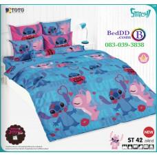 ชุดเครื่องนอนลีโล่ แอนด์ สติทช์ Lilo & Stitch TOTO ผ้าปูที่นอน ผ้านวม ลิขสิทธิ์แท้โตโต้ ST42