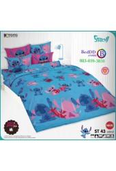ชุดเครื่องนอนลีโล่ แอนด์ สติทช์ Lilo & Stitch TOTO ผ้าปูที่นอน ผ้านวม ลิขสิทธิ์แท้โตโต้ ST43