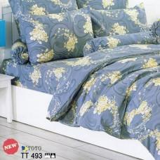 ชุดเครื่องนอนลายกุหลาบ โทนสีเทาเข้ม เหลือง  TOTO ผ้าปูที่นอน ผ้านวมโตโต้ TT493