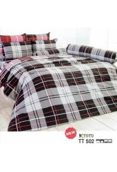 ชุดเครื่องนอนลายตารางเทาดำ สก๊อต TOTO ผ้าปูที่นอน ผ้านวมโตโต้ TT502
