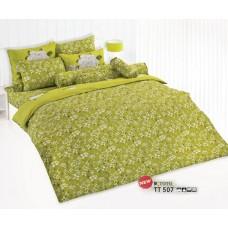 ชุดเครื่องนอนลายดอกไม้ พื้นสีเขียว TOTO ผ้าปูที่นอน ผ้านวมโตโต้ TT507