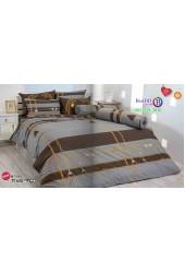ชุดเครื่องนอนลายโซ่ พื้นสีน้ำตาล TOTO ผ้าปูที่นอน ผ้านวมโตโต้ TT635
