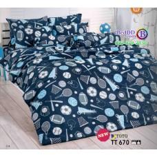 ชุดเครื่องนอนลายไม้เบสบอล ลูกบอล โทนสีน้ำเงิน TOTO ผ้าปูที่นอน ผ้านวมโตโต้ TT670