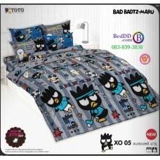 ชุดเครื่องนอนลายแบดแบตซ์ มารุ Bad Badtz-Maru TOTO ผ้าปูที่นอน ผ้านวม ลิขสิทธิ์แท้โตโต้ XO05