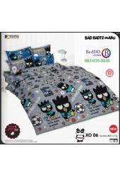 ชุดเครื่องนอนลายแบดแบตซ์ มารุ Bad Badtz-Maru TOTO ผ้าปูที่นอน ผ้านวม ลิขสิทธิ์แท้โตโต้ XO06
