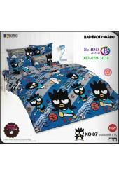 ชุดเครื่องนอนลายแบดแบตซ์ มารุ Bad Badtz-Maru TOTO ผ้าปูที่นอน ผ้านวม ลิขสิทธิ์แท้โตโต้ XO07