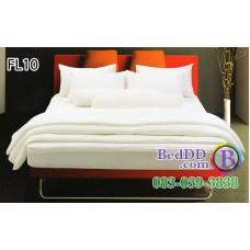 ชุดเครื่องนอนสีพื้น สีขาวล้วน Fair Lady ผ้าปูที่นอน ผ้านวมแฟร์เลดี้ FL10