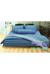 ชุดเครื่องนอนสีพื้น สีฟ้า ขอบสีอ่อน สองสี ทูโทน Fair Lady ผ้าปูที่นอน ผ้านวมแฟร์เลดี้ FL14