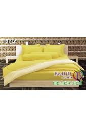 ชุดเครื่องนอนสีเหลืองสด ขอบอ่อน สองสี ทูโทน Fair Lady ผ้าปูที่นอน ผ้านวมแฟร์เลดี้ FL19