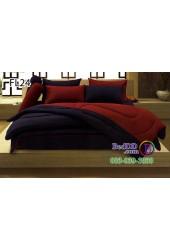 ชุดเครื่องนอนสีพื้น น้ำเงิน แดง ทูโทน Fair Lady ผ้าปูที่นอน ผ้านวมแฟร์เลดี้ FL24